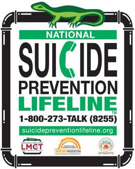 LMCT Suicide Prevention Hardhat Sticker - English