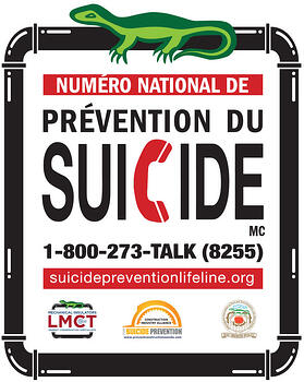 LMCT Suicide Prevention Hardhat Sticker - French